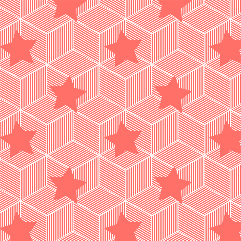 geometric stars print designed by kukka