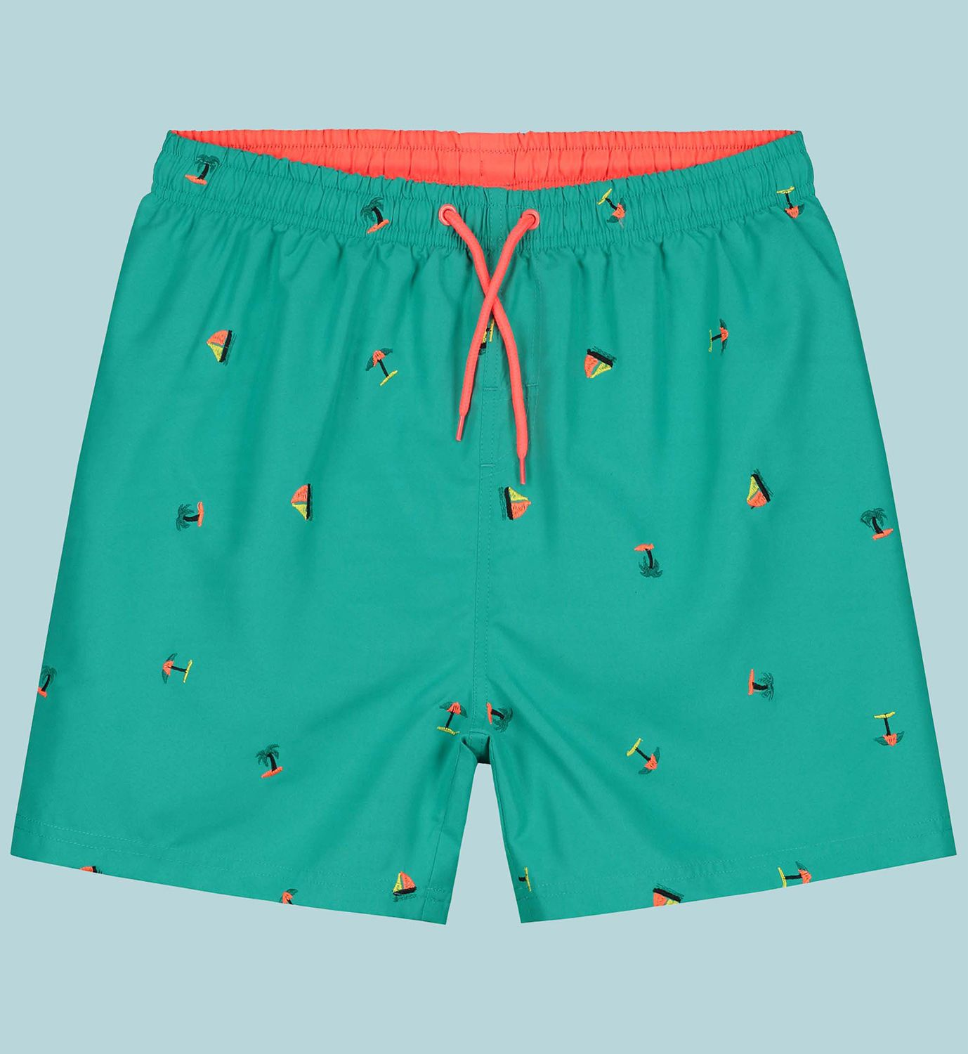 prenatal swimshort with embroidered print by kukka