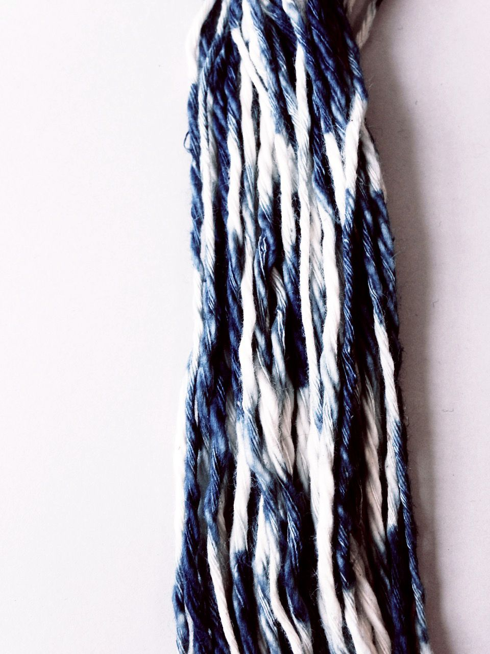 japanese kasuri yarn natural indigo