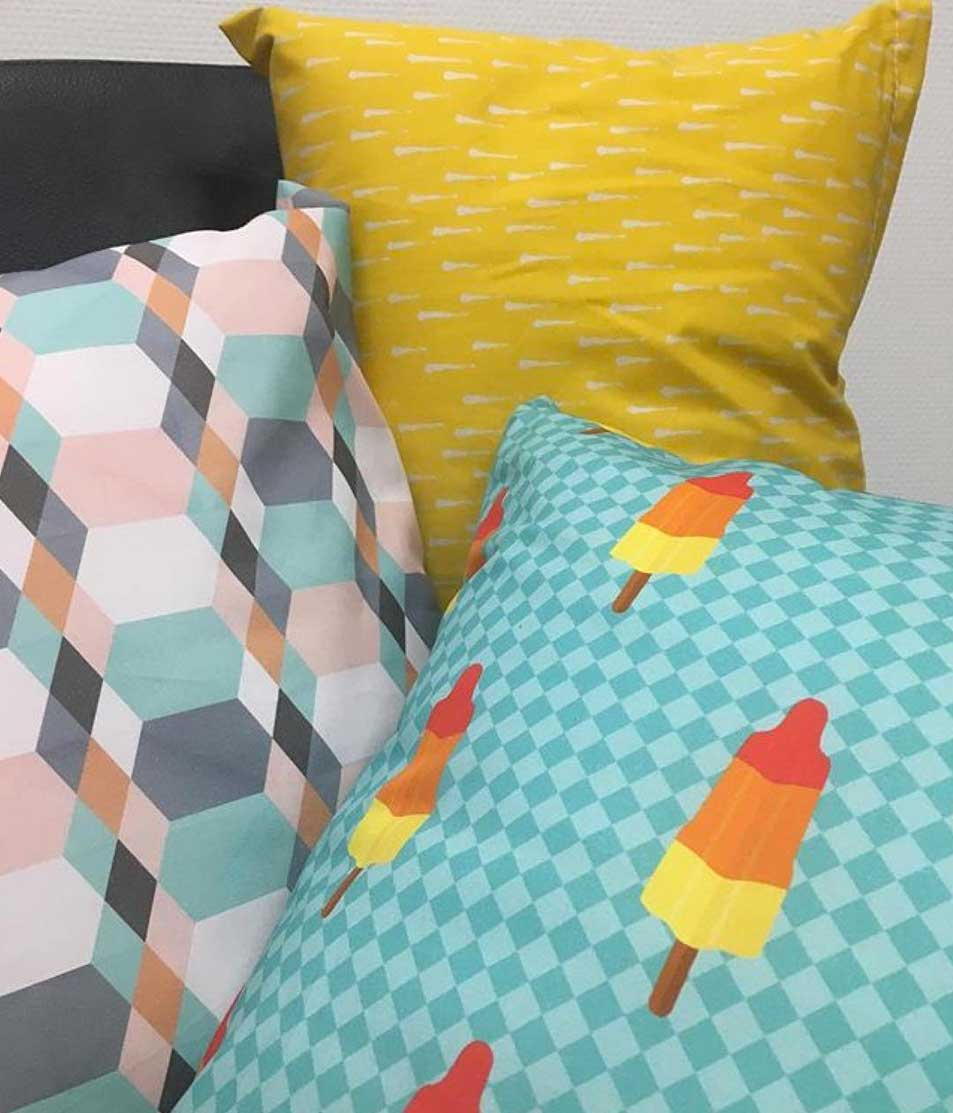 motiflow prints op textiel kukka