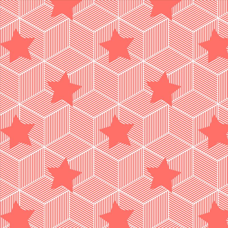 geometric stars print designed by kukka