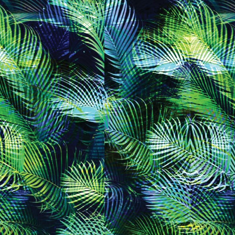 tropical palm print designed by kukka