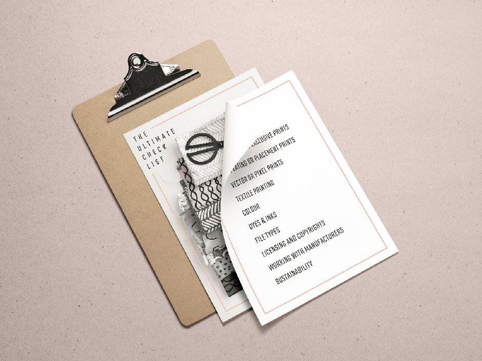 Kukka checklist for printing fabrics